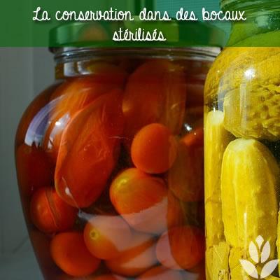 stérliser les légumes du potager
