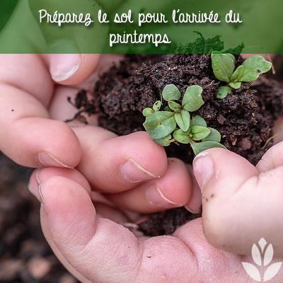 préparer le sol de jardin pour le printemps