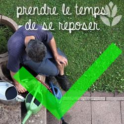 jardiner et se reposer