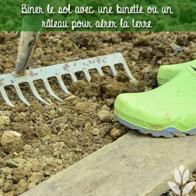 biner le sol du jardin