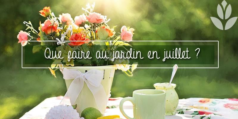 QUe faire au jardin en Juillet?