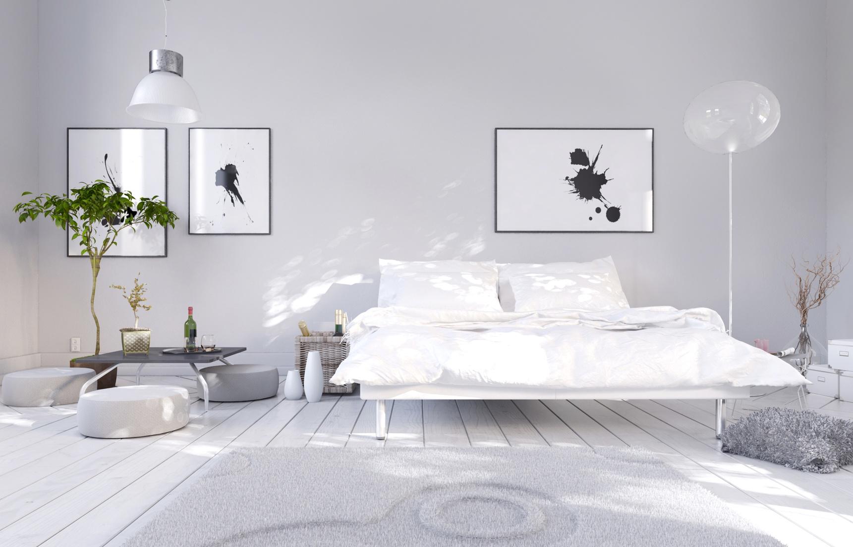 chambre à coucher végétalisée