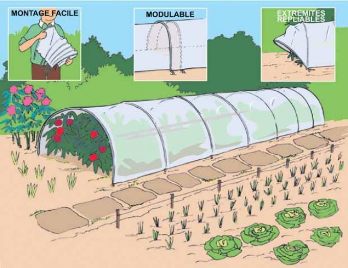 Le potager d 39 hiver ce qu 39 il faut savoir les conseils pour votre jardin de willemse france - Tunnel de protection pour potager ...