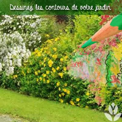 dessiner les contouors de son jardin pour préparer les plantations
