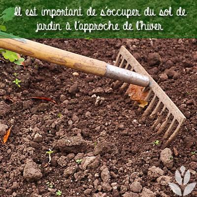 préparer le sol du jardin avant l'hiver