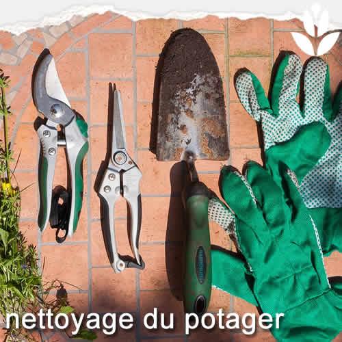 nettoyage du potager avant l'hiver