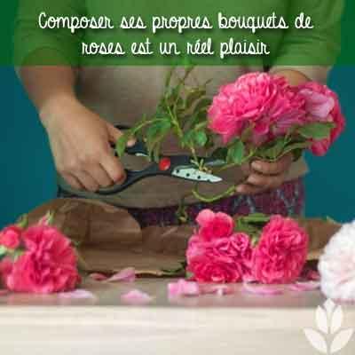 bouquet de roses et composition