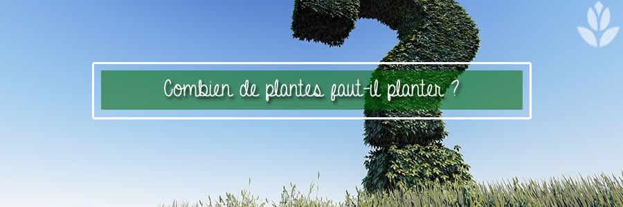 combien de plantes faut-il planter ?