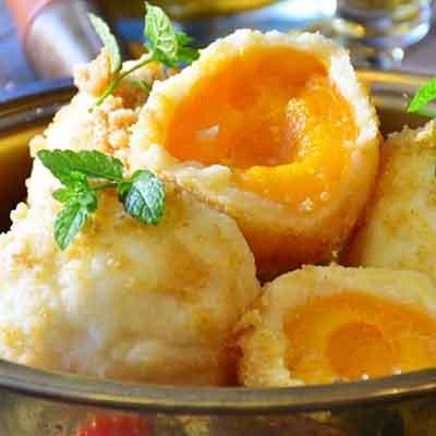 abricots en beignets
