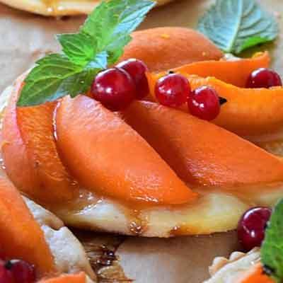 abricots sur les tartelettes